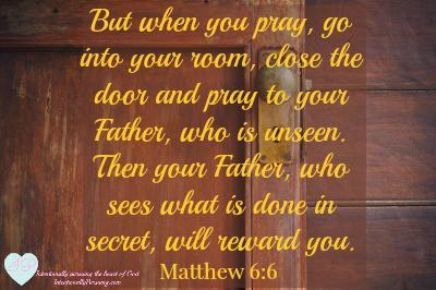 Go To Room In Secret Pray