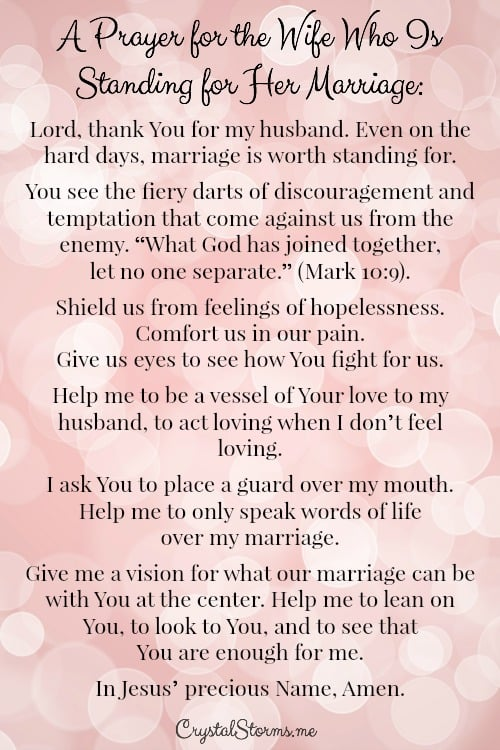 A Prayer for the Wife Who Is Standing for Her Marriage