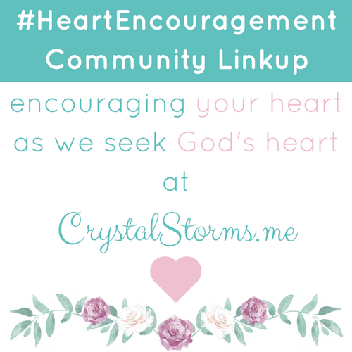 Welcome to the Heart Encouragement Community Linkup. ♥ You have words that will build up and bless others, so I'm asking you to share those words with us.