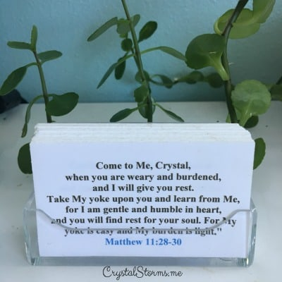 Sweet as Honey Scripture Cards - Need a gift idea or two? I love giving and receiving inspirational gifts that encourage the heart. Today I'm sharing a few of my favorite things. In Matthew 11:28-30, Jesus tells us to come to Him, where we will find rest for our souls.