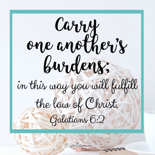How To Carry One Another's Burdens