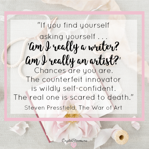 "What has God called you to do, sweet friend? ""Do whatever He tells you"" (John 2:5). Mary's words remind me the results aren't up to me. ""If you find yourself asking... 'Am I really a writer? Am I really an artist?' Chances are you are."" Steven Pressfield, The War of Art"