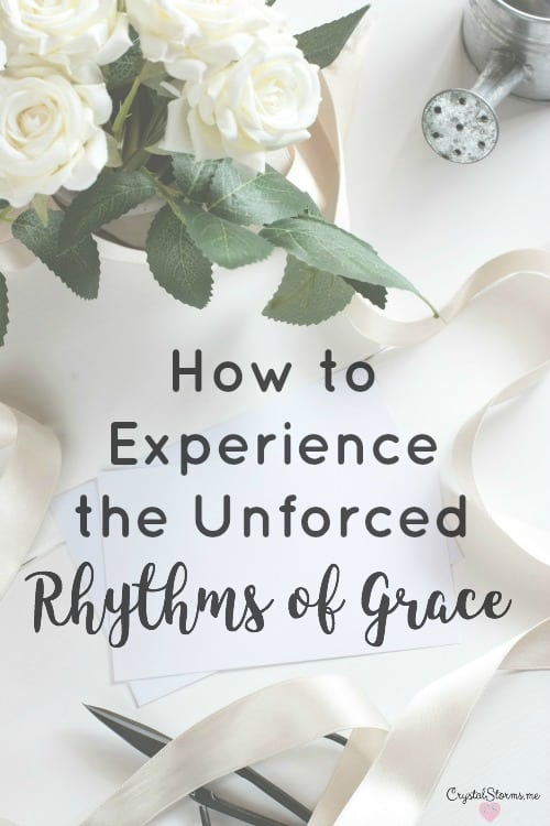 """""""Are you tired? Worn out? ...Learn the unforced rhythms of grace. I won't lay anything heavy or ill-fitting on you. Keep company with Me...(Matthew 11:28-30)"""