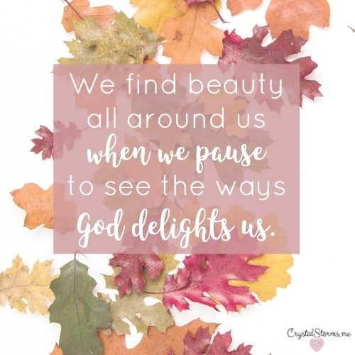 The Amazing Benefit of Pausing to See the Beauty – #HeartEncouragement