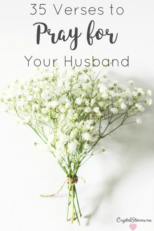 A cord of three strands is not quickly broken (Ecc. 4:12b). 35 verses to pray for your husband because praying for our husbands invites God into our marriages.