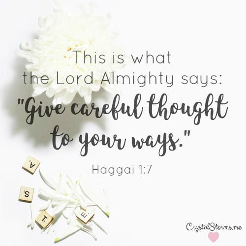 What do you want to see more of and less of at the end of the year? What is the fear of missing out costing you? How can you replace it with the joy of missing out? This is what the Lord Almighty says: 'Give careful thought to your ways.' (Haggai 1:7). Life is determined by our small choices.