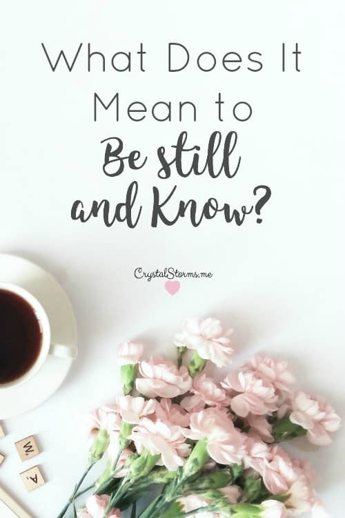 """He says, """"Be still, and know that I am God ..."""" (Psalm 46:10, NIV) Stillness is a beautiful invitation in our often fast-paced lives. But other translations of Psalm 46:10 paint a different scene. """"That's enough!"""" (CEB), """"Stop your fighting"""" (HCSB), """"Cease striving"""" (NASB). What Does It Mean to Be Still and Know?"""