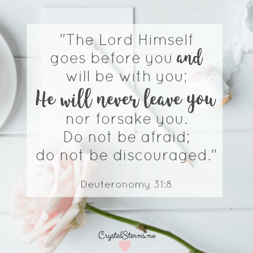 """In the unknown remember """"The Lord himself goes before you and will be with you; He will never leave you..."""" (Deuteronomy 31:8) How to Persevere as a Couple"""