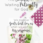 What do we miss out on when we don't wait on God? Discover the benefit of waiting patiently for God. Psalm 37:7 Be still before the Lord and wait patiently for Him. Waiting on God | Benefits of waiting on God | faith
