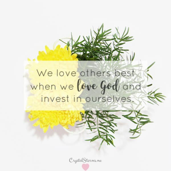 Do you love yourself? Show yourself compassion by taking care of your needs? Care for you in the way you care for others? Mark 12:31 Love your neighbor as yourself. We love others best when we love God and invest in ourselves. | Love God | Love Others | Love Yourself