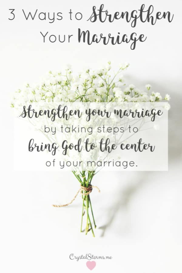 Who's winning the fight for your marriage? We strengthen our marriages by taking steps to bring God to the center of our marriages. Ecclesiastes 4:12: Though one may be overpowered, two can defend themselves. A cord of three strands is not quickly broken.   Faith   Christian Marriage   Christ-centered Marriage