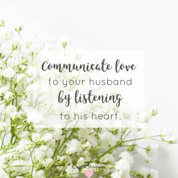 Does your husband feel heard? By taking the steps to listen to your husband's heart, you communicate love to your husband. Listen to His HEART, Proverbs 2:2 | Marriage Encouragement | Christ-Centered Marriage | Godly Marriage