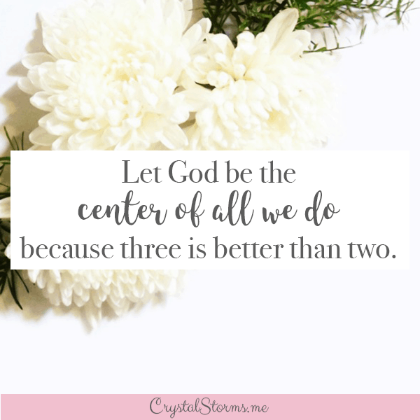Crystal Storms - What do you do when your husband is hard to love? Loving my husband when he pushed me away was hard to do. Ecclesiastes 4:12 Click for encouragement when your husband is unloving #ChristCenteredMarriage #ChristianWife #ChristianMarriage #MarriageEncouragement