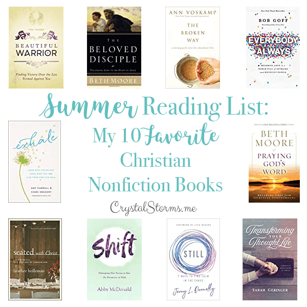 2020 Summer Reading List: My 10 Favorite Christian Nonfiction Books | Books to Read | Christian Nonfiction Reads
