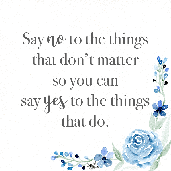 What Did God Call You to Do? Genesis 2:1 Say no to the things that don't matter so you can yes to the things that do.