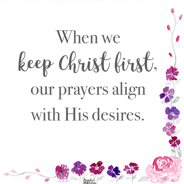 When we keep Christ first, our prayers align with His desires.   Why God Waits to Answer Your Prayers