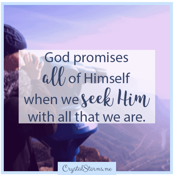 God promises all of Himself when we seek Him with all that we are. | Christian woman | Christian encouragement | Christian faith